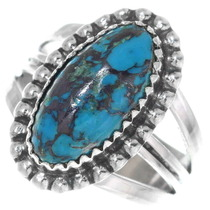 Turquoise Sterling Silver Navajo Ring 35871