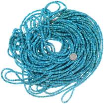 Irregular Turquoise Heishi 5mm 24 Inch Strand 35530