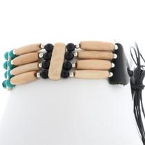 Tribal Turquoise Bone Choker 35875