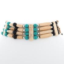 Southwest Indian Bone Choker 35875