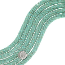 Aqua Green Turquoise Disc Beads 35532