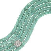 Aqua Green Turquoise Disc Beads 35532