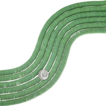 Green Turquoise 10mm Disc Beads 35533
