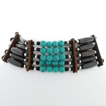 Turquoise Indian Bone Choker 35876