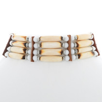 Beaded Indian Style Bone Choker 35879