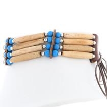 Bone Bead Turquoise Beaded Choker 35882