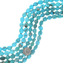 Natural Turquoise Beads Rounded Sonoran Gold Nuggets 35538