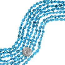 Natural Turquoise Beads Rounded Spiderweb Nuggets 35544