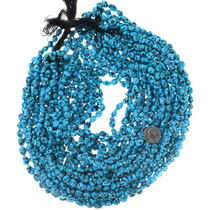 Deep Blue Spiderweb Turquoise Nuggets Untreated Beads 35545