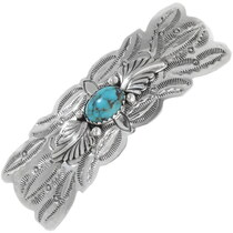Navajo Turquoise Sterling Silver Hair Barrette 35887