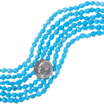 Natural Kingman Turquoise Nugget Beads 35554