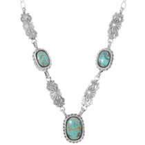 Kingman Turquoise Navajo Necklace 35897