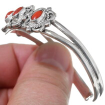 Navajo Coral Cuff Bracelet 35898