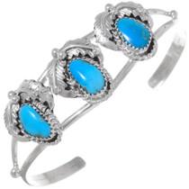 Navajo Turquoise Silver Bracelet 35899