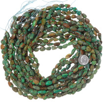 Natural Green Turquoise Nuggets Beads 35556