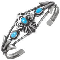 Navajo Turquoise Thunderbird Bracelet 35908