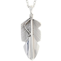 Sterling Silver Feather Pendant 35909