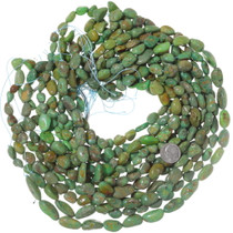 Untreated Green Turquoise Nugget Beads 35559