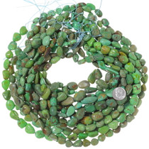Freeform Turquoise Nugget Beads Bright Green 35562