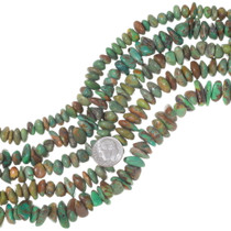 Green Turquoise Nugget Flats Bead Strand 35563