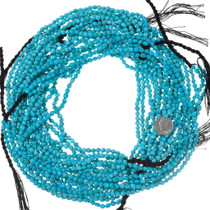 Rounded Smooth Turquoise Nugget Beads Untreated 35565
