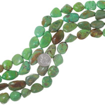 Large Chunky Turquoise Beads Natural Emerald Valley 35569