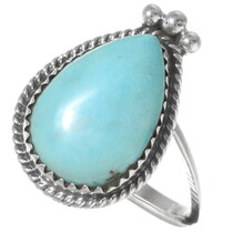 Native American Turquoise Teardrop Ring 35928