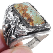 Antiqued Silver Turquoise Western Ring 35929