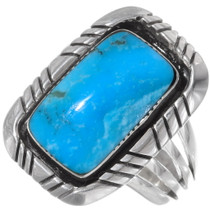 Navajo Blue Turquoise Silver Ring 35930