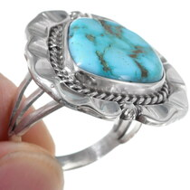 Carico Lake Turquoise Ladies Ring 35932