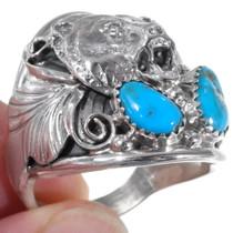 Bear Design High Grade Turquoise Ring 35934