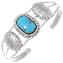 Turquoise Silver Concho Bracelet 35940