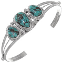 Spiderweb Turquoise Navajo Bracelet 35942