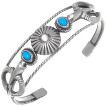 Genuine Turquoise Sterling Silver Bracelet 35945