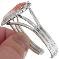 Navajo Sterling Silver Spiny Oyster Bracelet