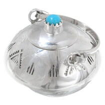 Miniature Navajo Sterling Silver Pottery 35955