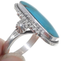Turquoise Sterling Silver Ring Twist Wire Design 35962