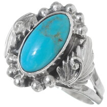 Navajo Turquoise Ring 35964