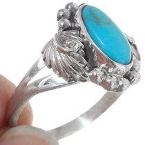 Turquoise Sterling Ladies Ring 35964