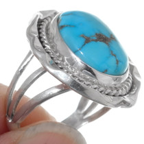 Turquoise Silver Native American Ring 35967