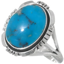Ladies Turquoise Silver Navajo Ring 35970