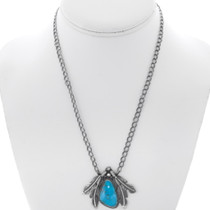 High Grade Deep Blue Turquoise Pendant 35983