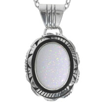 White Fire Opal Pendant 35988