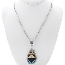 Native American Geometric Pattern Pendant 35990
