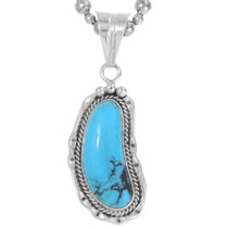 Navajo Blue Turquoise Sterling Silver Pendant 38000