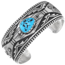Native American Pattern Sterling Silver Bracelet 38016