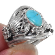 Turquoise Silver Ladies Ring 38023