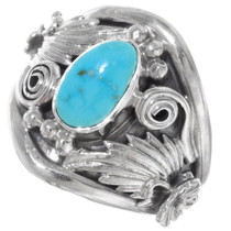 Navajo Made Kingman Turquoise Ring 38023