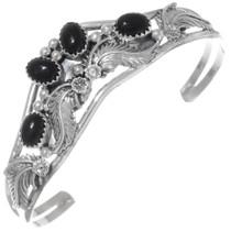 Navajo Black Onyx Sterling Silver Bracelet 38027