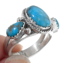Sonoran Gold Turquoise Native American Ring 38031